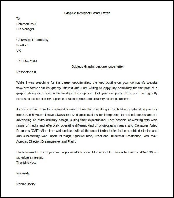 Cover Letter Sample Free Download