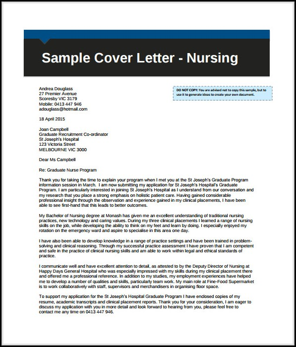 Free Professional Cover Letter Template