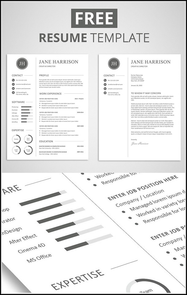 Free Resume And Cover Letter Templates 2018