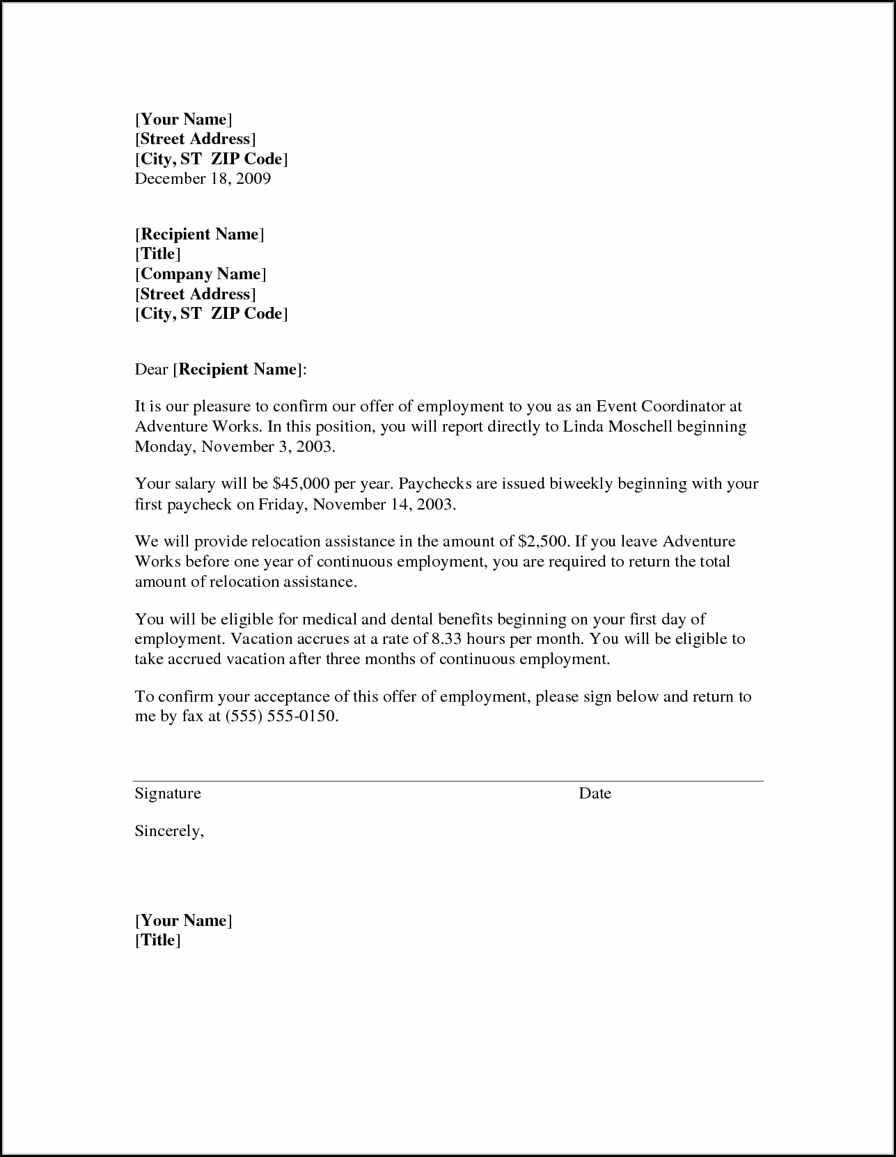 Free Sample Relocation Cover Letter