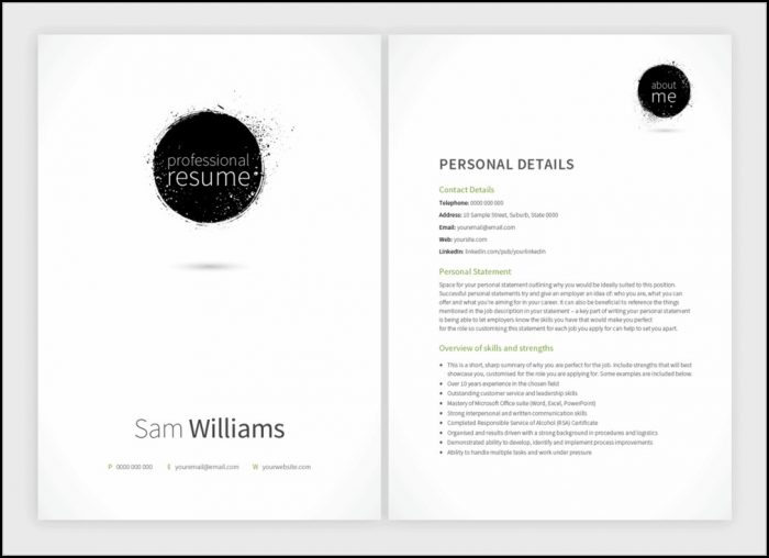 Matching Resume And Cover Letter Templates
