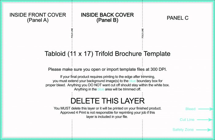 11x17 Trifold Template Word