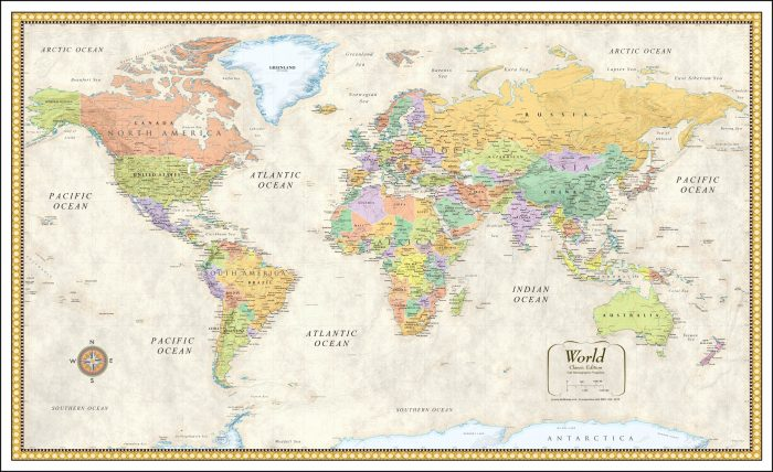 24x36 World Map Poster