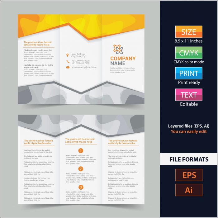 4 Panel Brochure Template Free Download