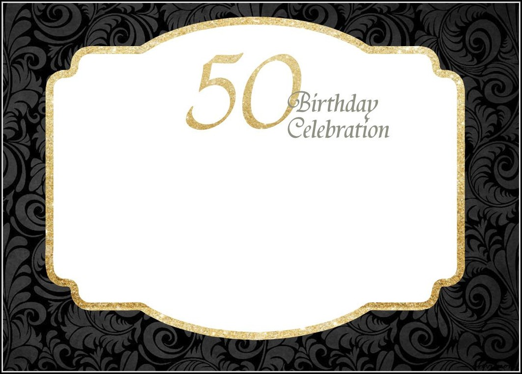 50th Birthday Invitation Template Free Printable