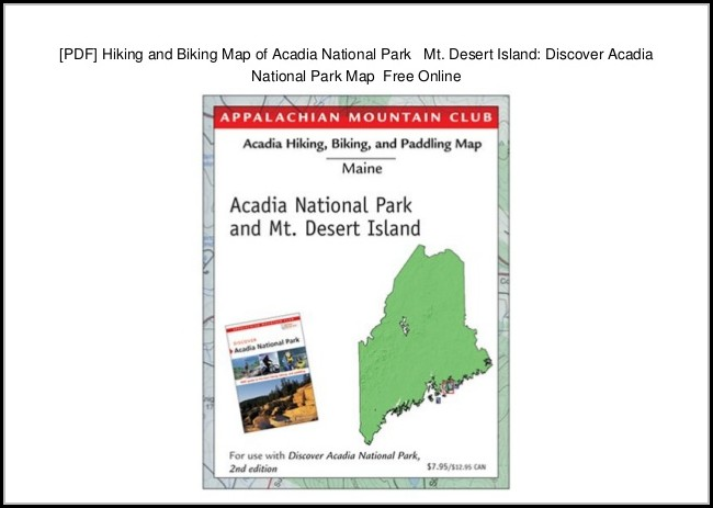 Acadia National Park Hiking Map Pdf