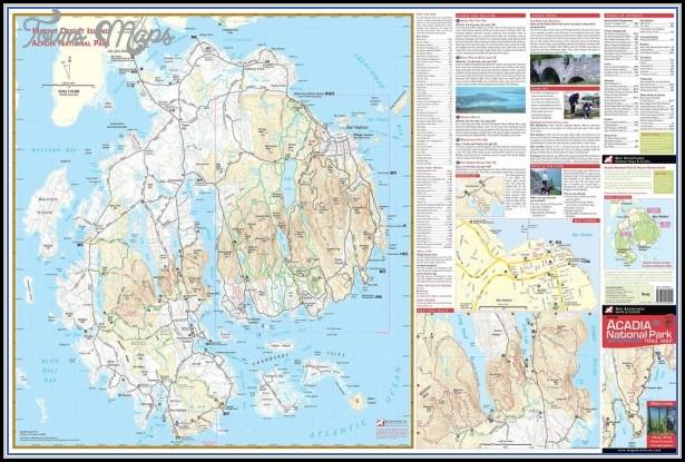 Acadia National Park Hiking Map