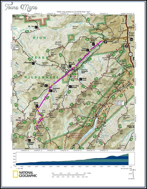 White Mountains Hiking Map - Map : Resume Examples #PV8X275KJQ