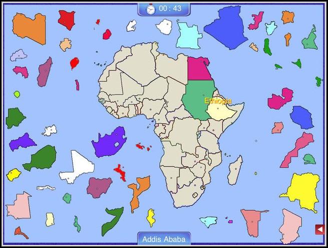 Africa Map Puzzle App