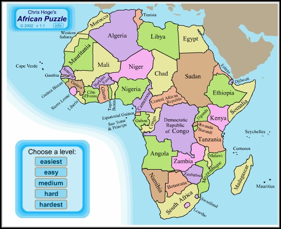 Africa Map Puzzles