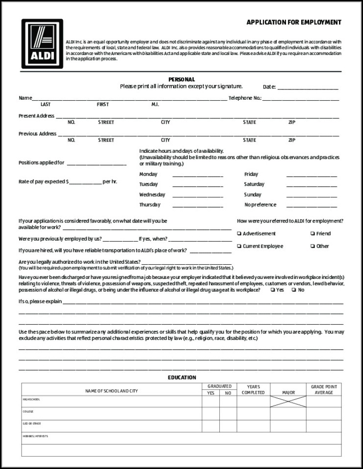 aldi job application form online job applications resume