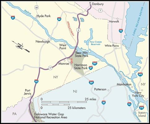 Appalachian Trail Map New York