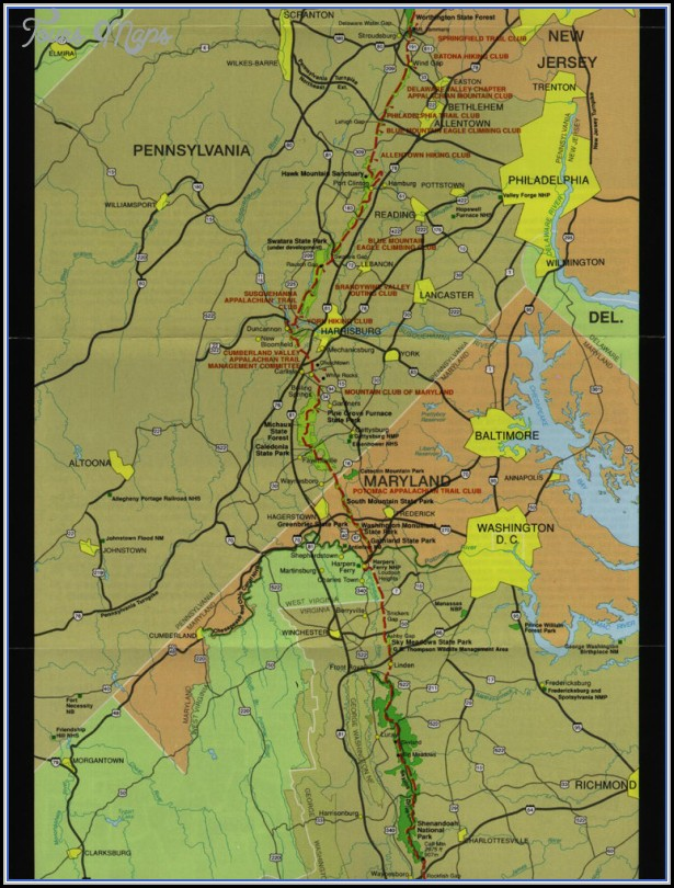 Appalachian Trail Map Pennsylvania