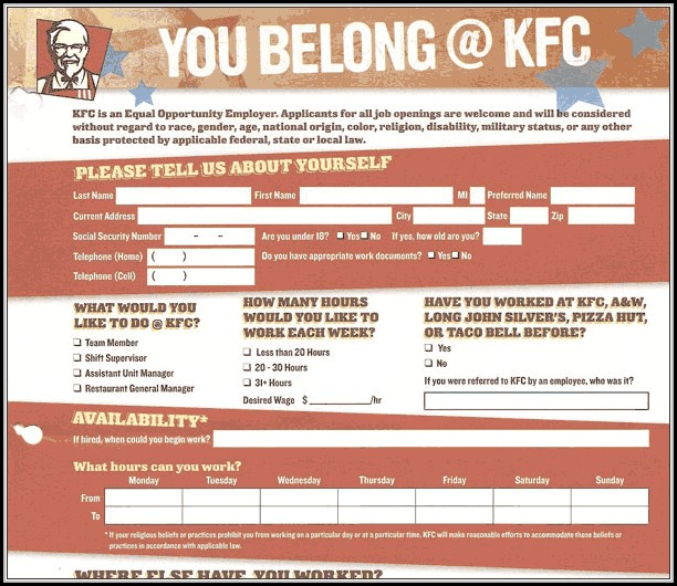photograph about Kfc Printable Applications referred to as Put into action Process Kfc - Task Programs : Resume Illustrations #PV8XYE51JQ