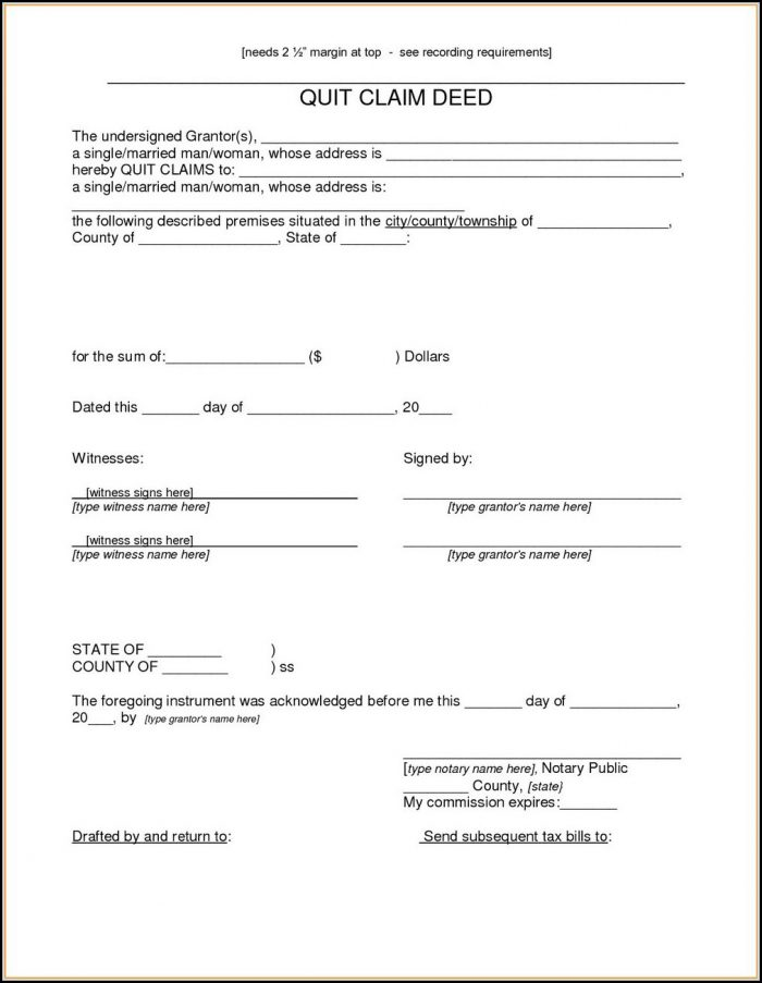 Arizona Quit Claim Deed Form Pdf