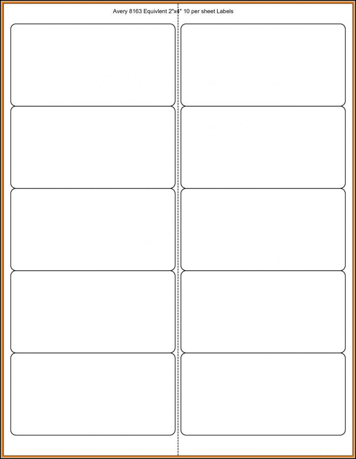 Avery 2x4 Template
