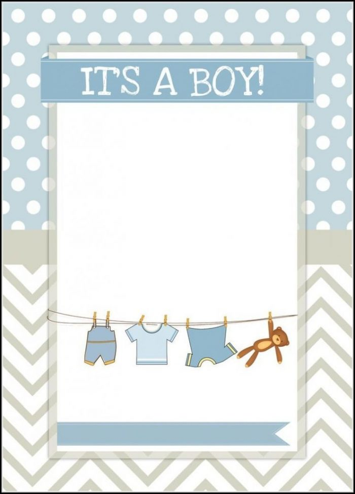 Baby Shower Boy Invitation Templates Free