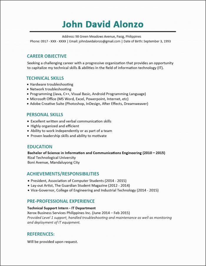 Best Free Resume Builder 2018