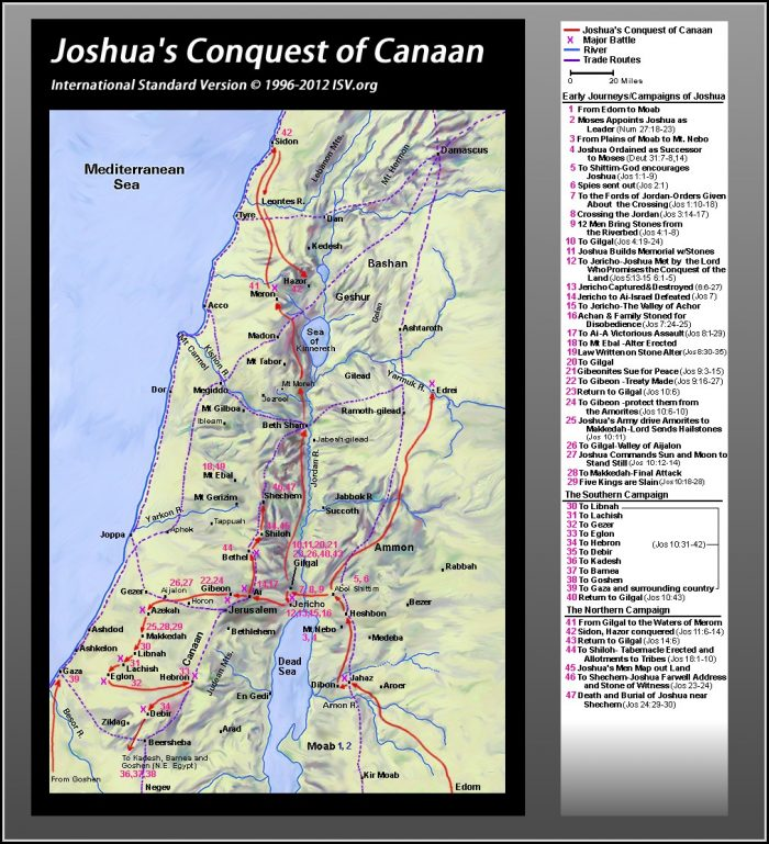 Bible Maps Old Testament Joshua
