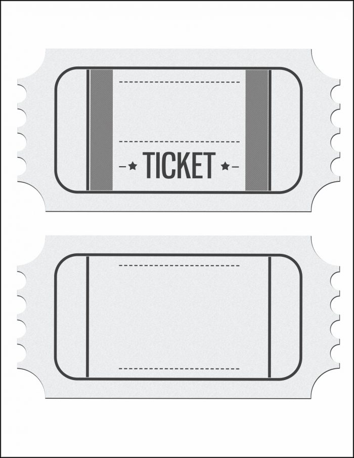 Blank Movie Ticket Invitation Template
