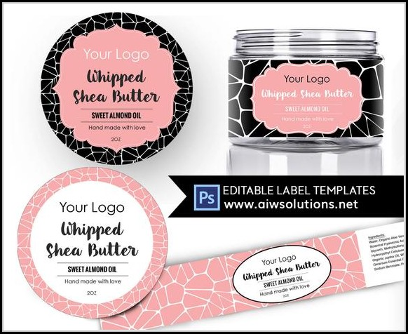 Body Butter Label Template