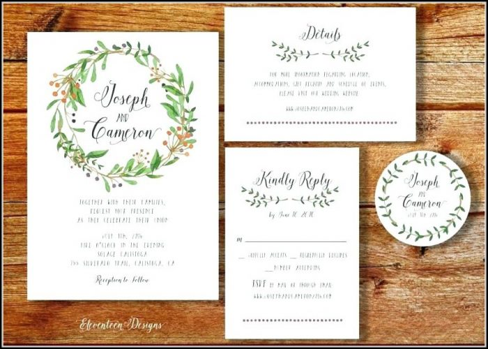 Boho Wedding Invitations Templates