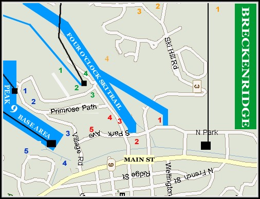 Breckenridge Lodging Map