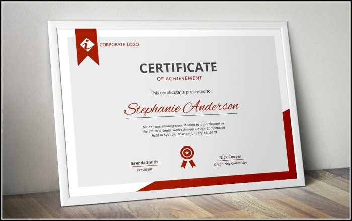 Business Certificate Templates