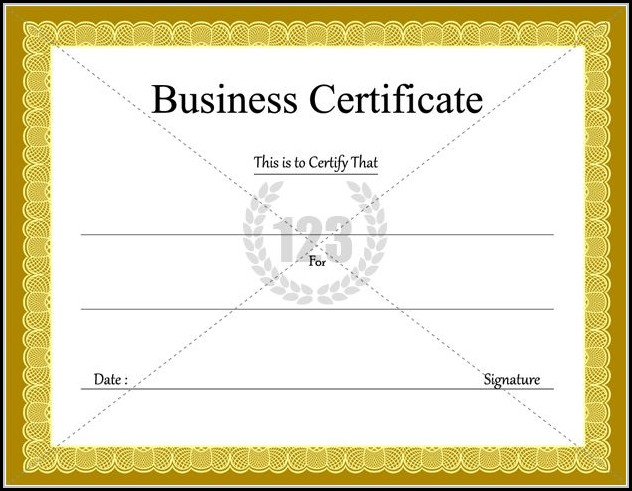 Business Certificate Templates Free Download
