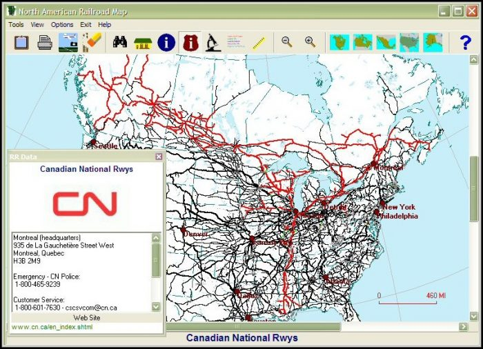 Canadian National Railway Map