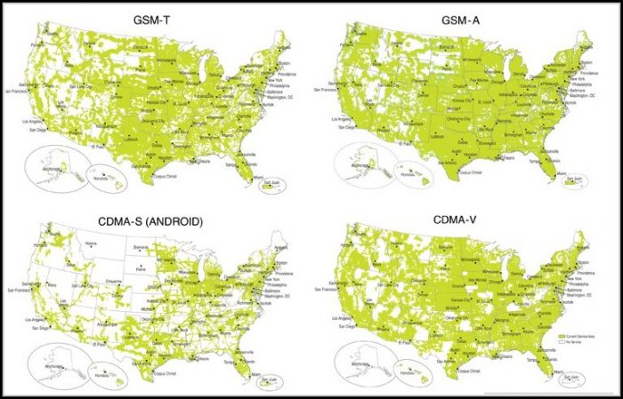 Cell Phone Coverage Maps For All Carriers
