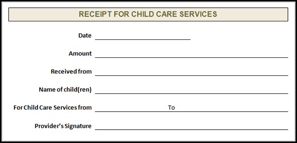 Child Care Invoice Template Free