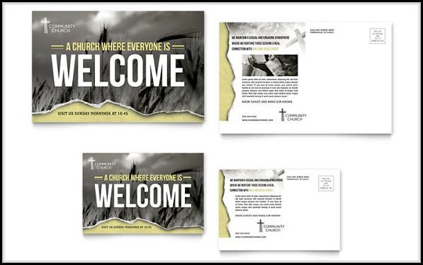 Church Postcard Templates Free