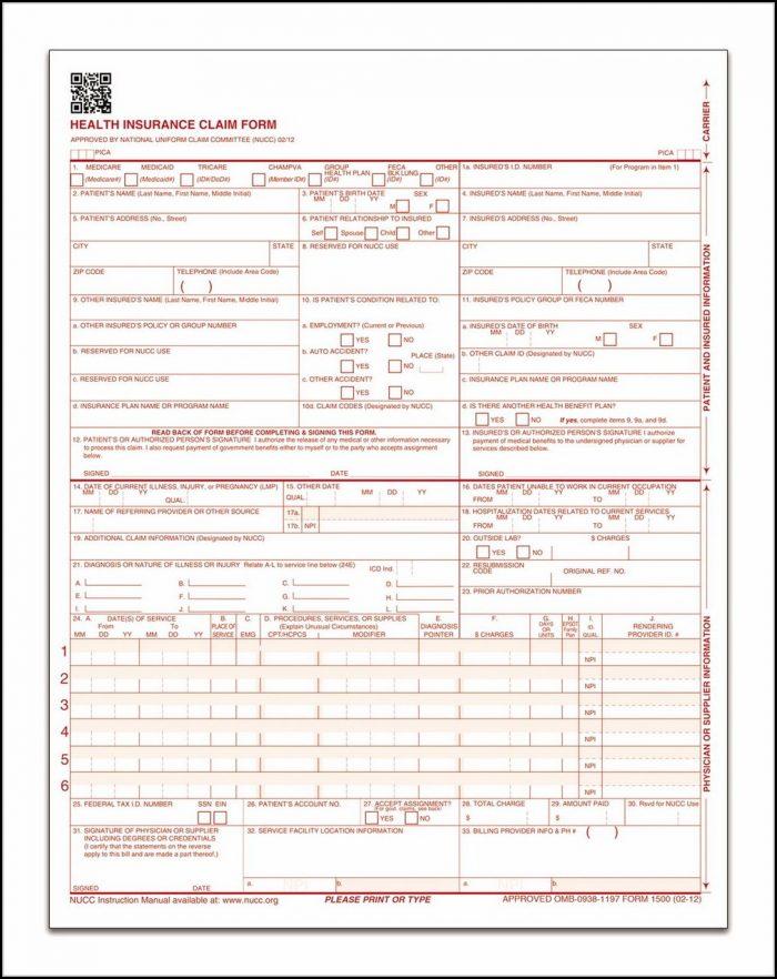 Cms 1500 Form Printable