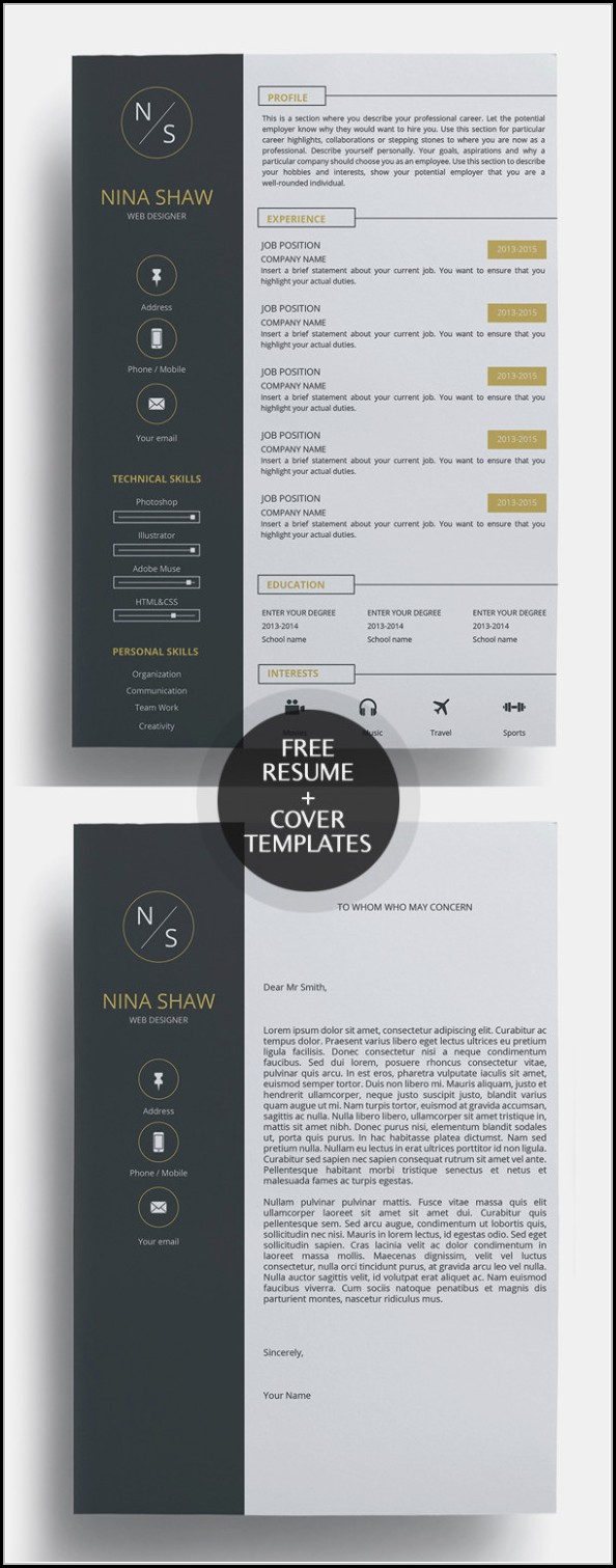 Creative Resume And Cover Letter Templates