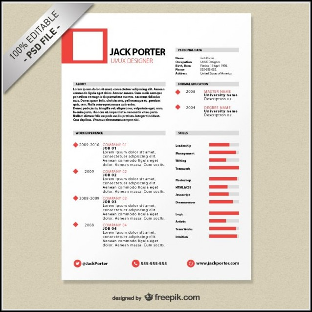 Creative Resume Templates For Freshers Free Download