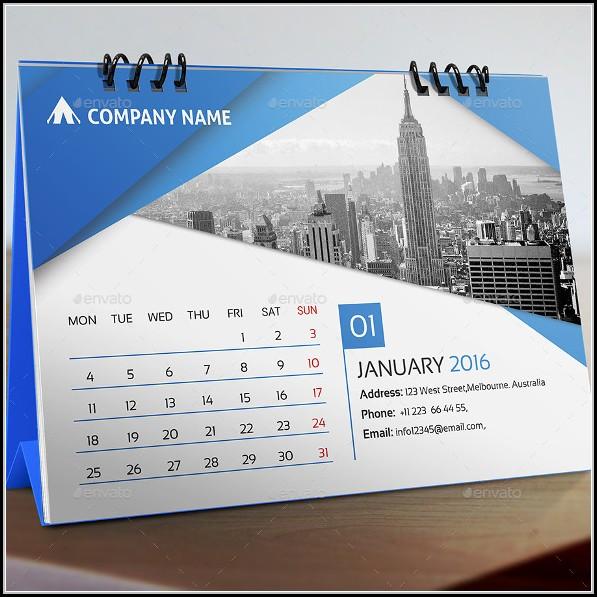 Desk Calendar Templates