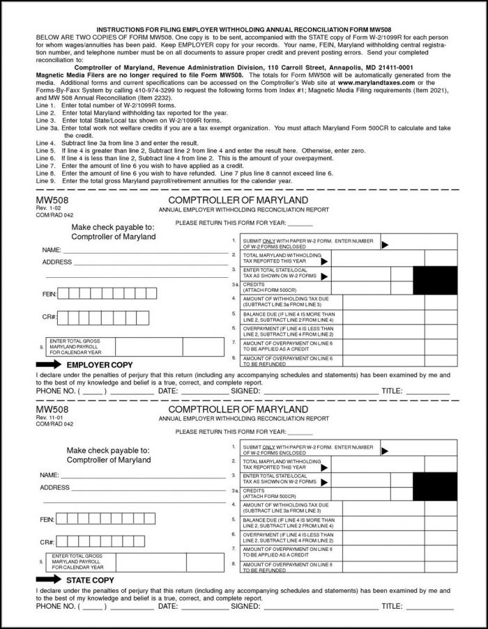Download W2 Form 2017