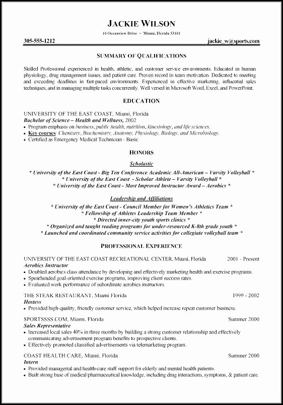 Editable Resume Template For Freshers