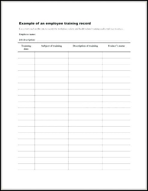 Employee Records Template Excel