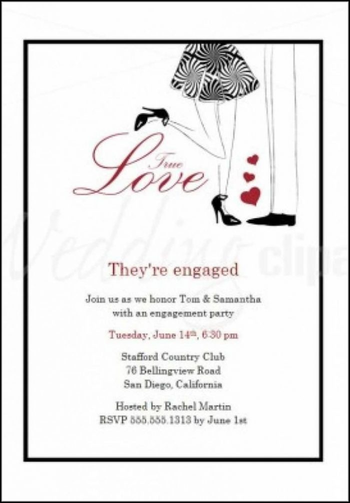 Engagement Invite Templates Free