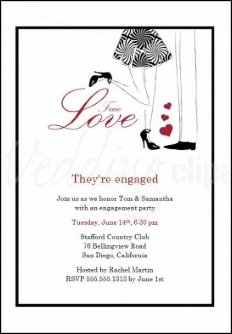 Engagement Invite Templates Free