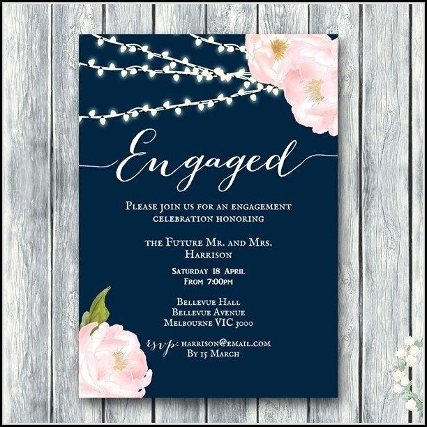 Engagement Invite Templates Online