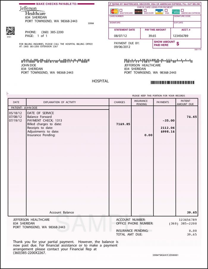 Examples Of Invoices Templates