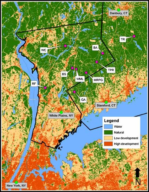 Fairfield And Westchester County Map