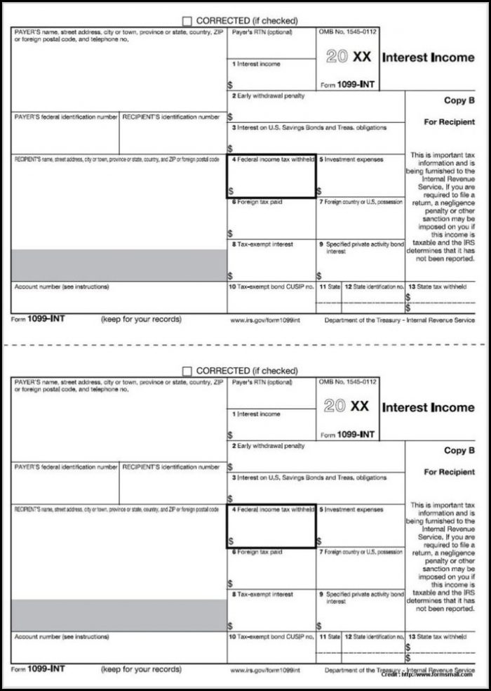 Fillable 1099 Misc Form 2017