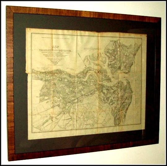 Framed Antique Maps