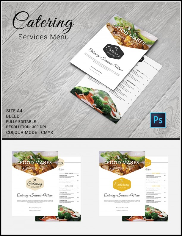 Free Catering Menu Design Templates