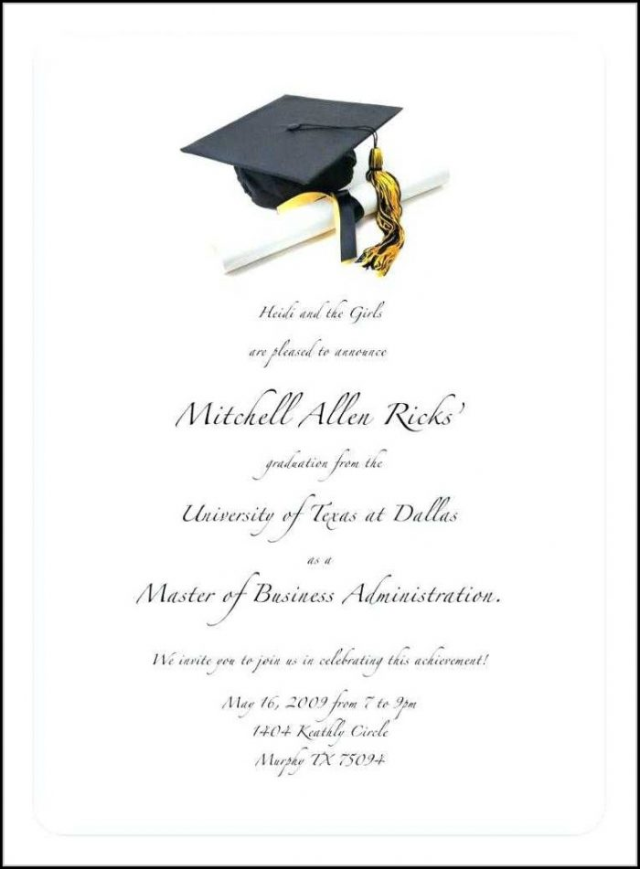 Free College Graduation Invitation Templates