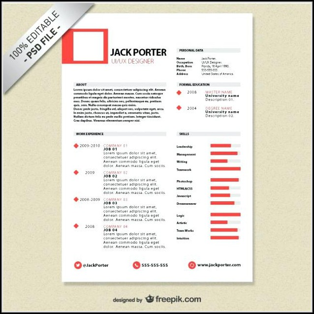 Free Creative Resume Design Templates